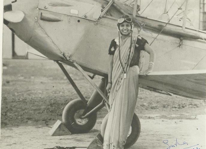 Sarla Thakral, First Woman Pilot of India - Late 1930's